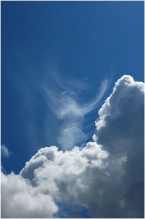 Praying Angel cloud shape..may angels surround you and keep you safe on your special day..:)