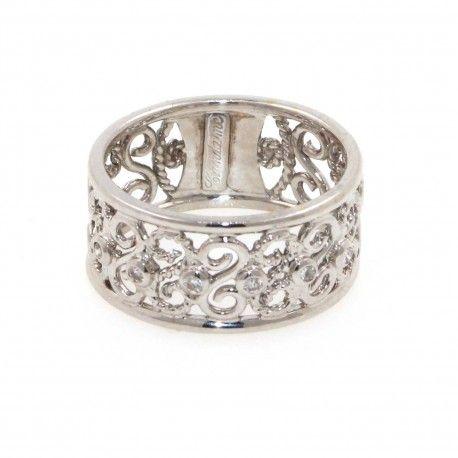 Anillo oro  con diamantes filigrana calado    Anillos de mujer en Joyería Marga Mira: anillos originales, finos, anillos grandes, anillos con perlas, abiertos, anchos.     ¡Porque eres única y diferente!    www.joyeriamargamira.com