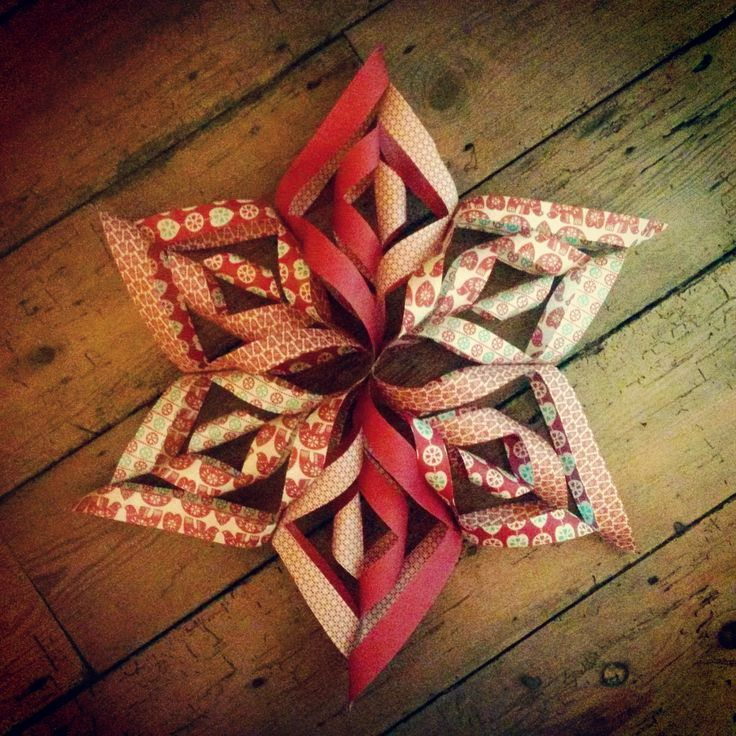 Big ole paper christmas star