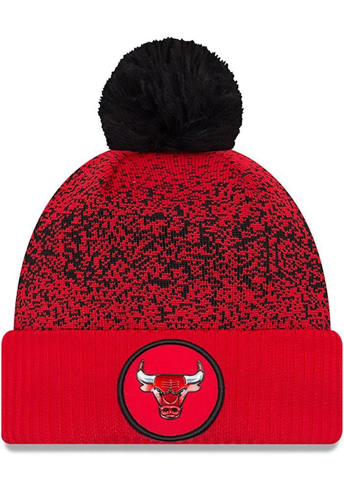 797f4097442 New Era Chicago Bulls Red NBA17 On Court Reverse Mens Knit Hat - Image 1