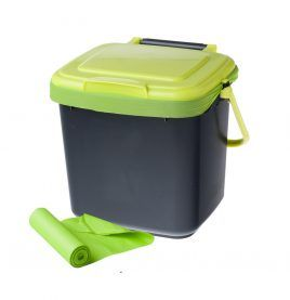 compost caddy and organic compostable bags