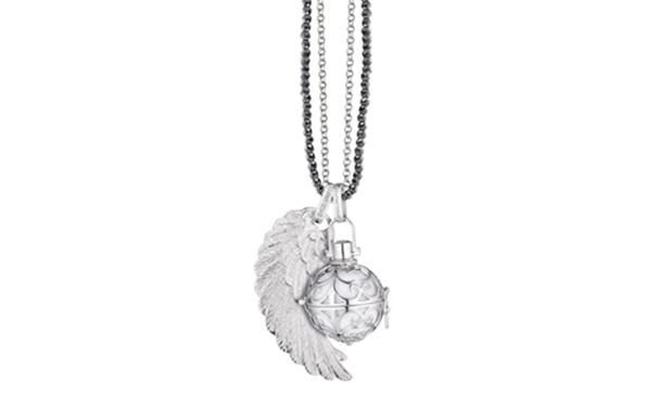 Silver Rhodium plated Engelsrufer with wing on chain  http://www.sterns.co.za