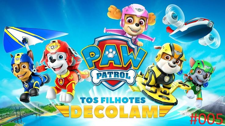 Paw Patrol the puppies take off | Patrulha Canina os filhotes decolam #005