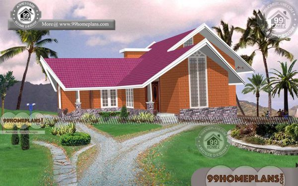 Brick Cottage House Plans With 3d Elevations Low Cost Modern Designs Cottage House Plans Brick Cottage House Exterior