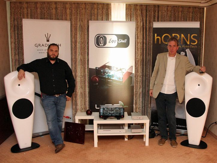 High-End Hi-Fi audio show in Bonn and our vacuum tube amplifier Egg-Shell with hORNS speakers