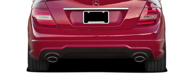 2008-2014 Mercedes C Class C350 W204 Vaero C63 V2 Look Rear Bumper Cover ( with PDC ) - 2 Piece