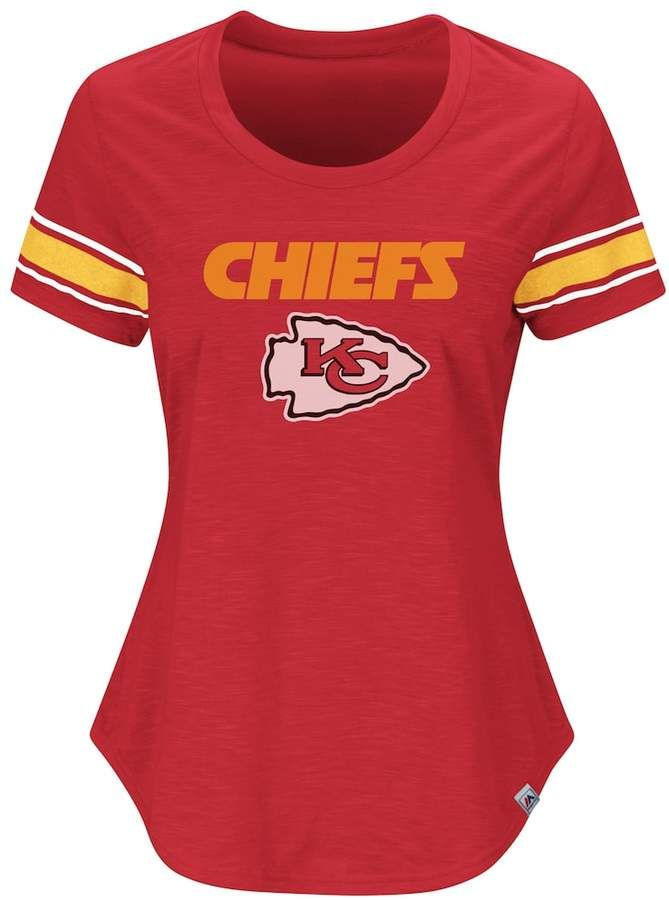 310cfe04174 Plus Size Kansas City Chiefs Jersey Tee #FEATURES#Team#Majestic ...