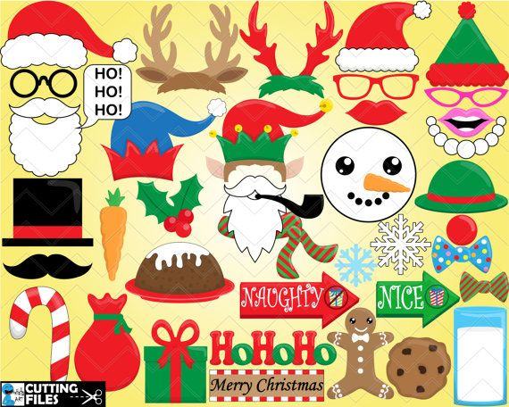 Cutting files Christmas Props  Digital Files Svg Eps by HaHaHaArt