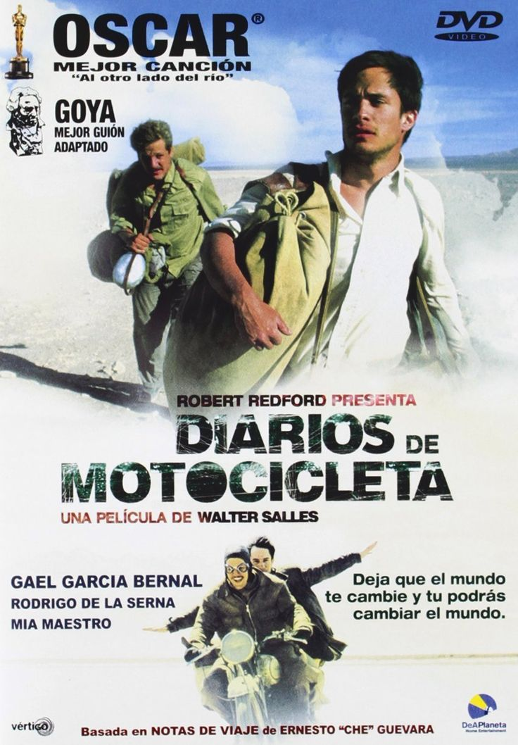 """Diarios de motocicleta"" (2004) - a biopic about the journey and written memoir of the 23-year-old Ernesto Guevara, who would several years later become internationally known as the iconic Marxist guerrilla commander and revolutionary Che Guevara."