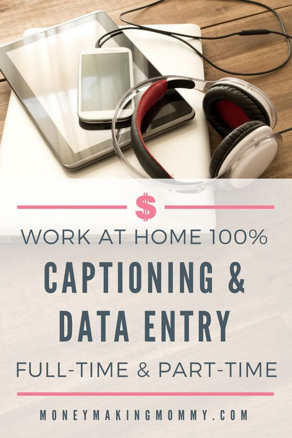 This Company Offers Captioning And Data Entry Work At Home Make