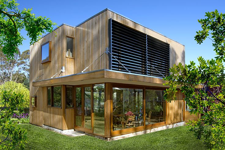 Solar passive extension in the Blue Mountains Australia by Craig Gilchrist Builder.  Architect 6B Design. Photography Liisa Kuisma.