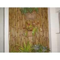 Esteira E Placas Em Bambu, Plantas, Divisórias E Pergolado.