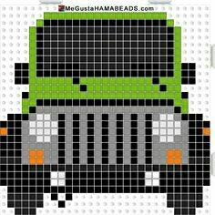 Jeep Truck perler bead Pattern