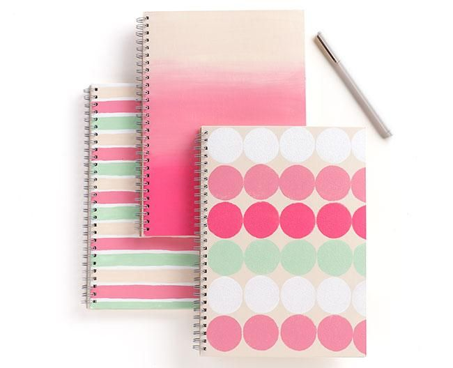 Make a DIY version of these adorable Martha Stewart Color Notebooks! So easy for a scrapbooker!