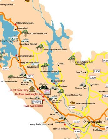 Kanchanaburi Thailand Map.Getting Here Map Kanchanaburi Thailand Pinterest Thailand