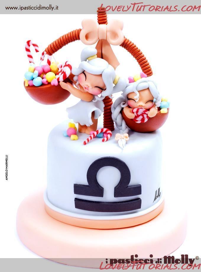 Gemini zodiac cake tutorial   by ipasticcidimolly via lovelytutorials