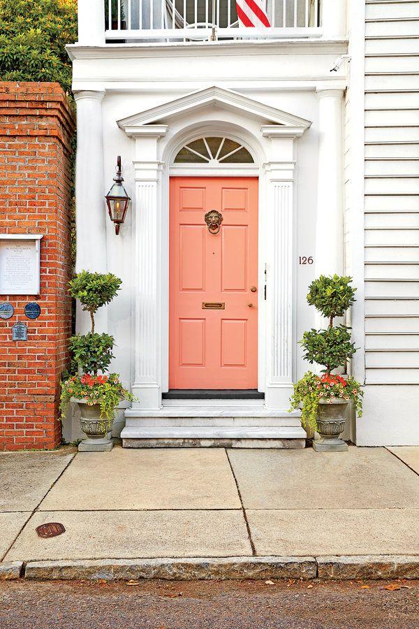Front Door Style: Charleston Peach Front Door