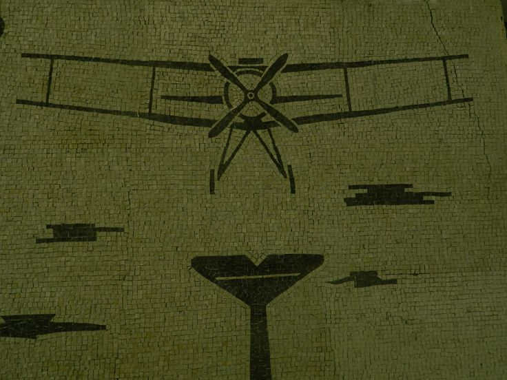 The mosaic at the school of aviation, now a middle high school! #romagna #forlì #italy