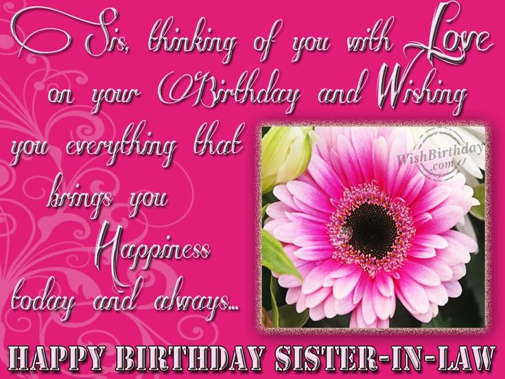 Wishing Happy Birthday To Sweet Sister In Law Greetings