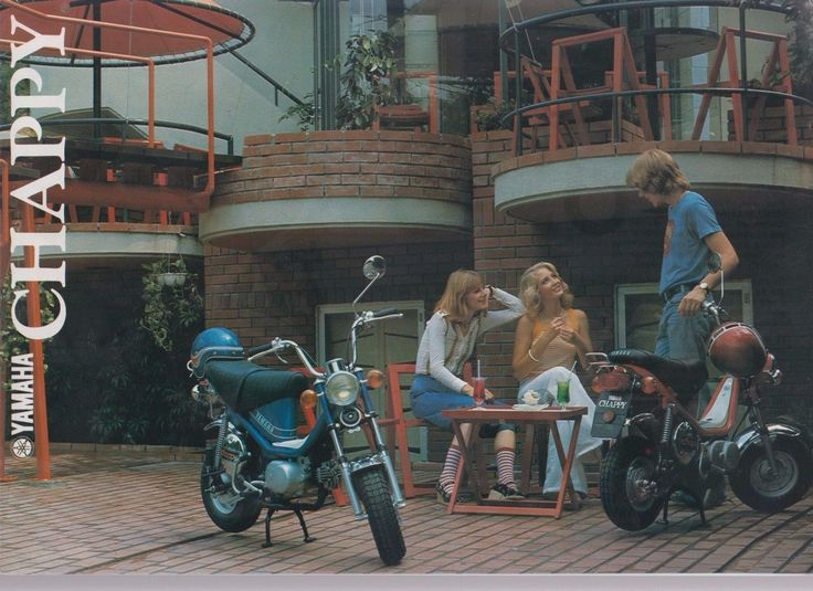 Yamaha Chappy Moped Motorcycle Brochure   eBay