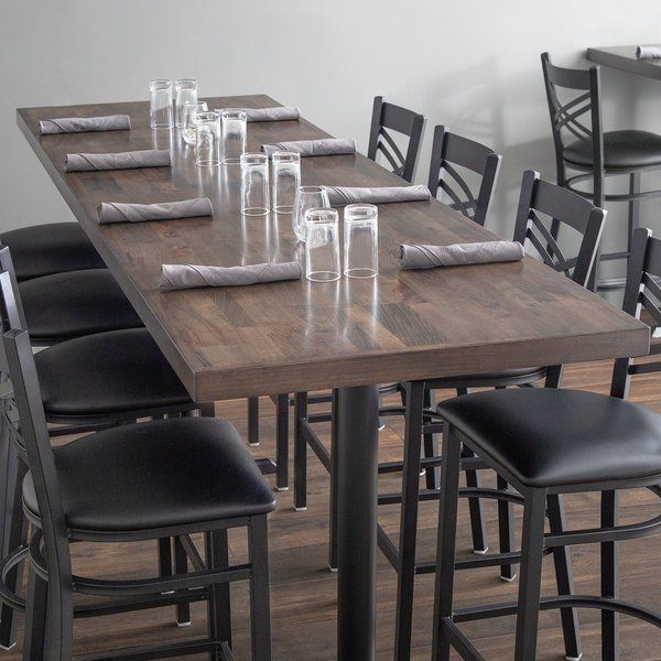 Lancaster Table Seating 30 X 96 Recycled Wood Butcher Block Table Top With Espresso Finish Butcher Block Tables Butcher Block Table Tops Butcher Block Dining Table