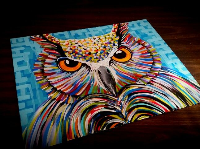 """""""The stare"""" by Canvas Precision. Acrylics. ❤"""