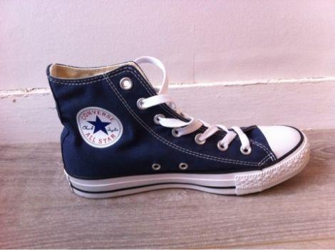 Chaussures à lacets  CONVERSE / Bleu, bleu marine, bleu turquoise / 38,5 US / Toile / Toutes saisons