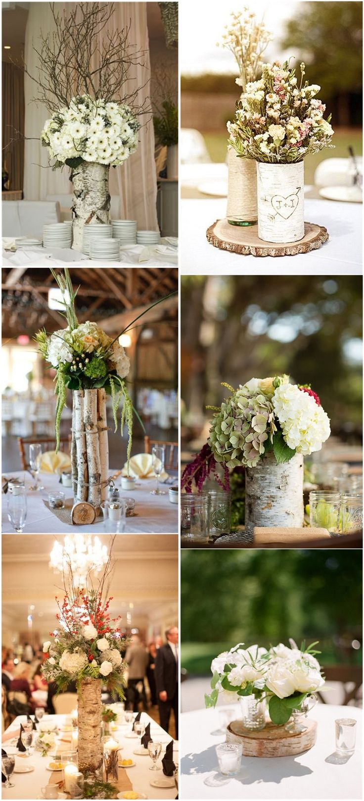 51 best wedding decoration images on pinterest weddings decor wedding centerpieces 26 ideas to rock your winter wedding with birch centerpieces junglespirit Choice Image