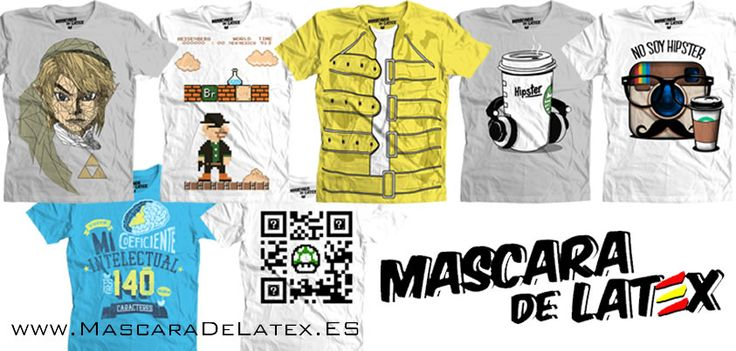 ¡Nuevos modelos disponibles en Stock! www.MascaraDeLatex.ES #Camisetas #MdL