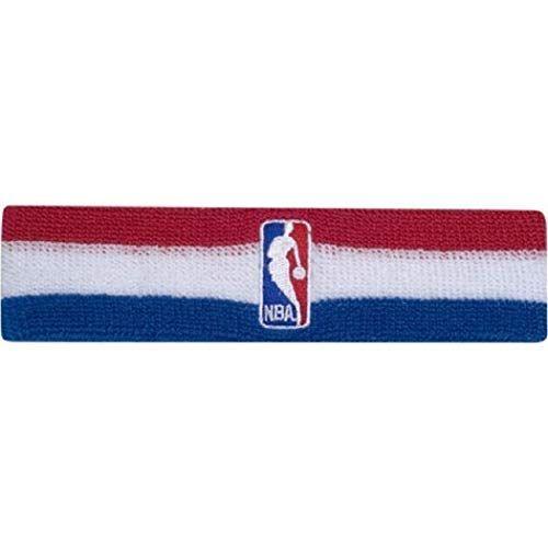 Offizielles NBA On-Court Logoman Stirnband – Rot / Weiß / Blau   – Sports
