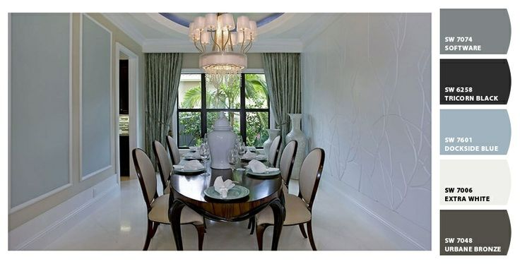 Amazing! Stunning! Dining room at The Bassano at The Bridges - New Homes in Delray Beach, FL - #glhomes - Paint color suggestions from Chip It! by Sherwin-Williams