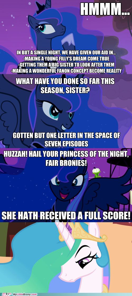 And this is why I like Luna the most, BY FAR. SHE ACTUALLY DOES SHIT