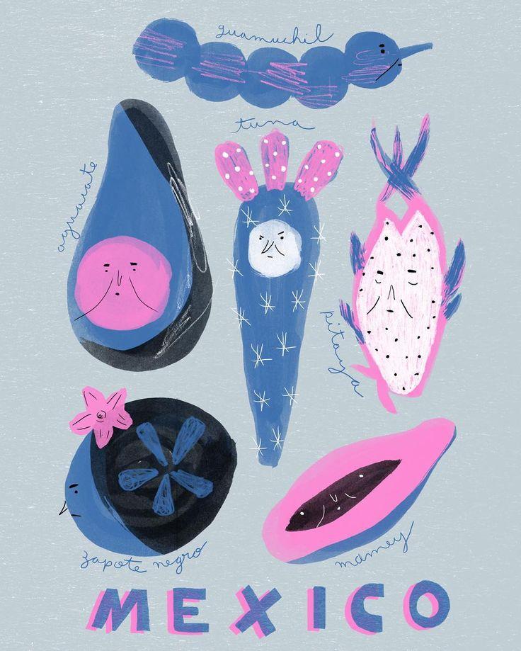 Do México, con cariño ❤Aguacate, tuna, pitaya, mamey, zapote negro y guamuchil (18/100)  .  .  .  .  .  .  .  #100daysproject #illustration #ilustracao #ilustracion #dibujo #ilustree #picame #behance #illustrationoftheday #instart #editorialillustration #foodillustration #theydrawandcook #fruits #mexico #frutas #avocado #pitaya #zapotenegro #tuna #hechoenmexico #lovefruit #desenho #poster #mexicanfruits #frutasmexicanas #mamey #traveljournal #travelillustration #childrenillustration