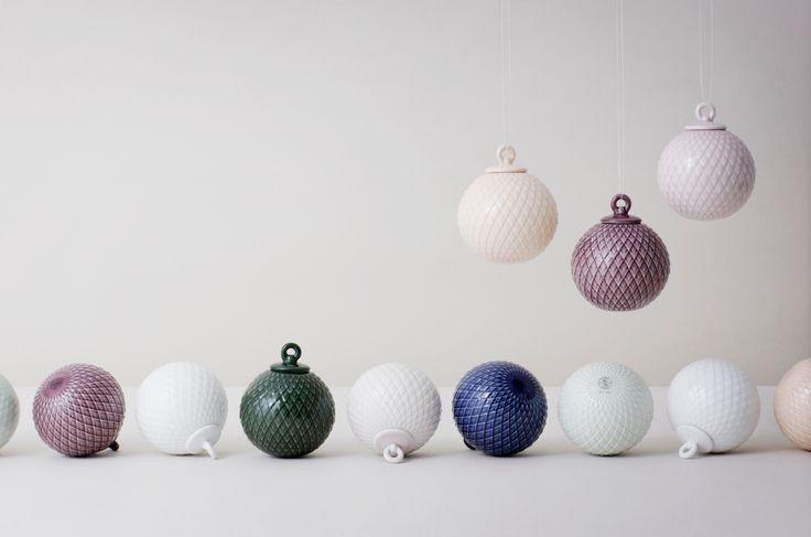 Rhombe Baubles by Lyngby Porcelæn #porcelænsfabrikkendanmark #monogram #original