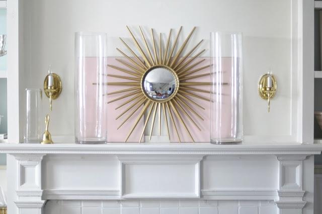 $35 starburst mirror from Home Depot