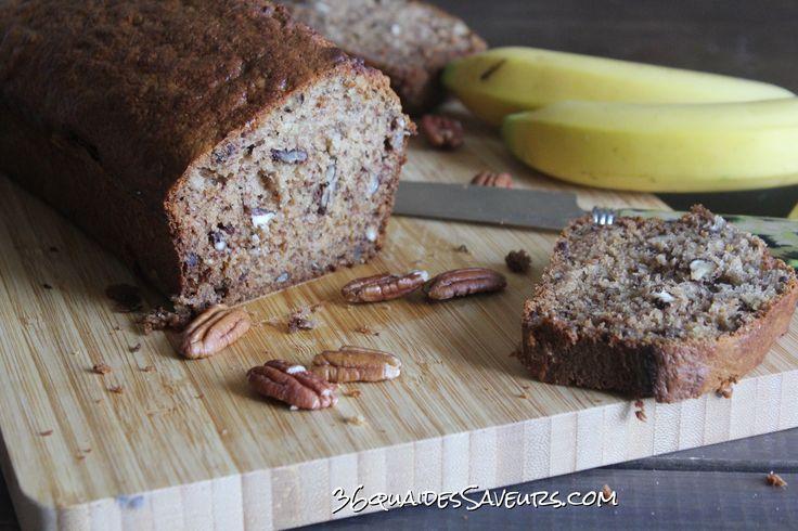 Cake à la banane et aux noix de pécan Banana Bread - 36 Quai Des Saveurs