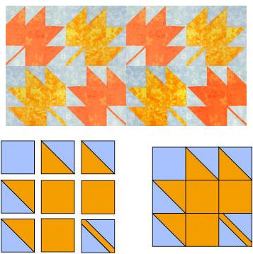 Maple Leaf Quilt Block Pattern -