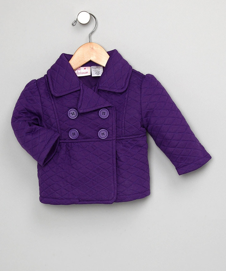 Pink Platinum Purple Pea Coat - Toddler & Girls | Coats Pea coat