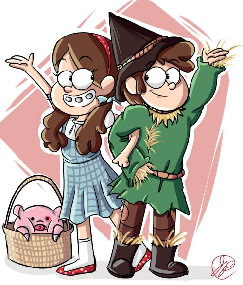 immaplatypus: It's June 22nd, so HAPPY SUMMERWEEN EVERYBODY!!!also mabel picked out the costume theme, dipper would only cooperate if he didn't have to be the cowardly lion