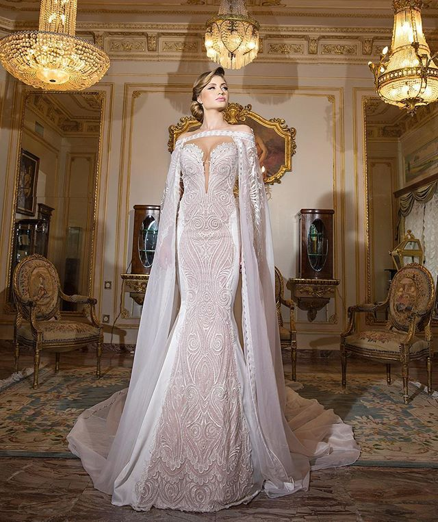 Take your dramatic #wedding gown to new heights with the addition of a… …