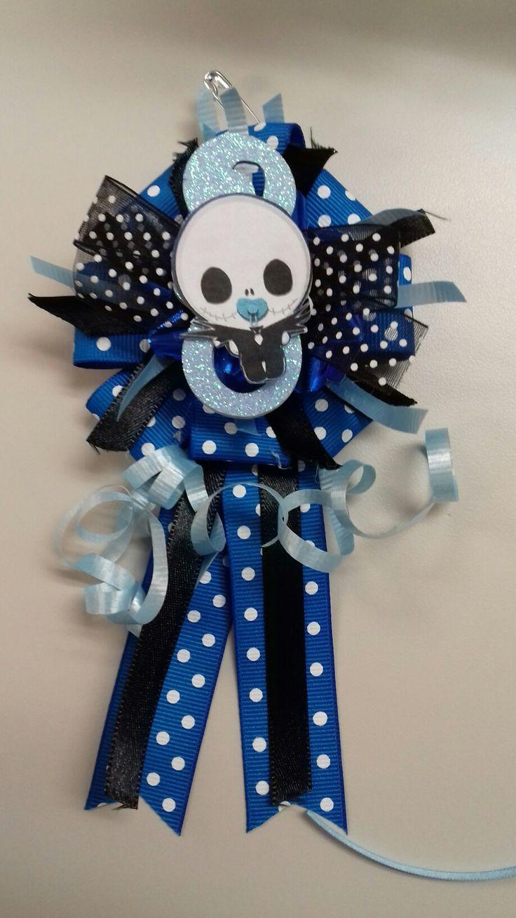 jack skellington baby shower corsage