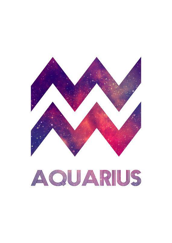 Aquarius Zodiac Star Sign Horoscope Symbol by LochnessStudio