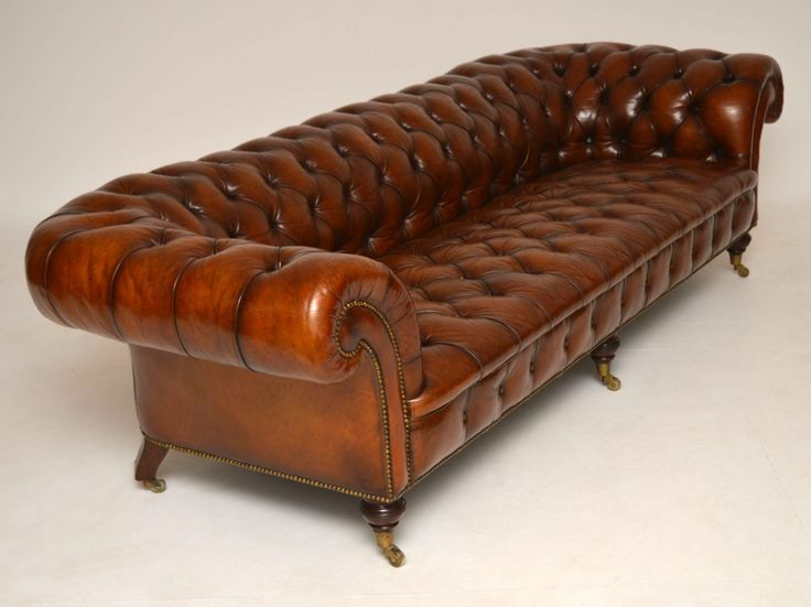 Recliner Sofa Large Antique Victorian Leather Chesterfield Sofa Church Street Antiques Antique Furniture