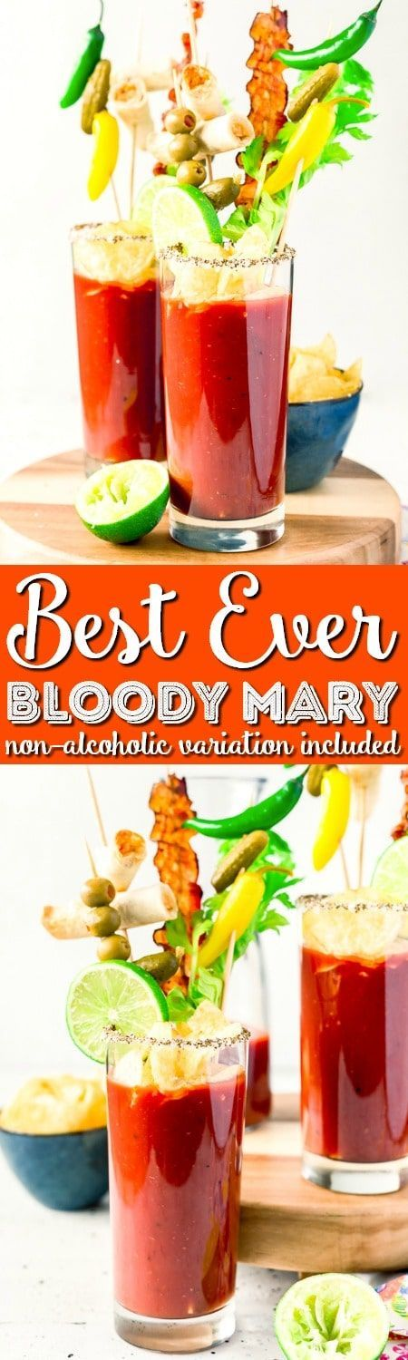 This is the Best Bloody Mary recipe made with vodka, tomato juice, spices, hot sauce, Worcestershire sauce and other delicious ingredients! Perfect for weekend mornings and brunch with friends! #cocktail #recipe #vodka #tomatoes #brunch