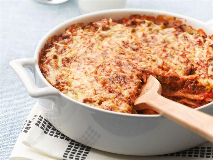 Tortillaletuista valmistettu jauhelihalasagne on maukasta ruokaa arkeen ja se on erityisesti nuorten makuun.