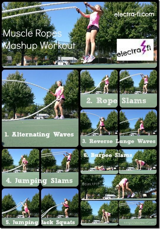 can't wait to try out this Muscle Ropes workout from @The Flying Electra L - looks like a killer, total body burn! #FitFluential