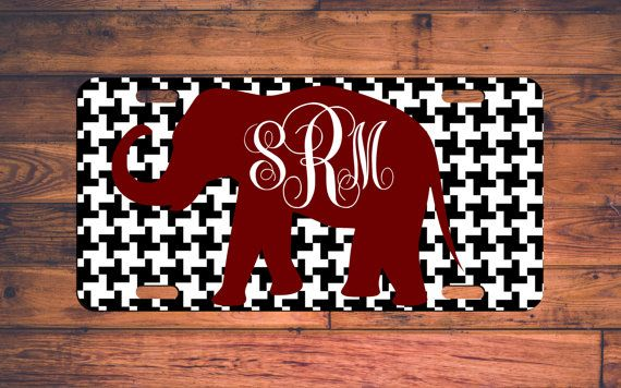 ROLL TIDE Monogrammed License Plate by TheMonogramStand on Etsy