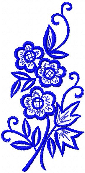 free flowers machine embroidery design