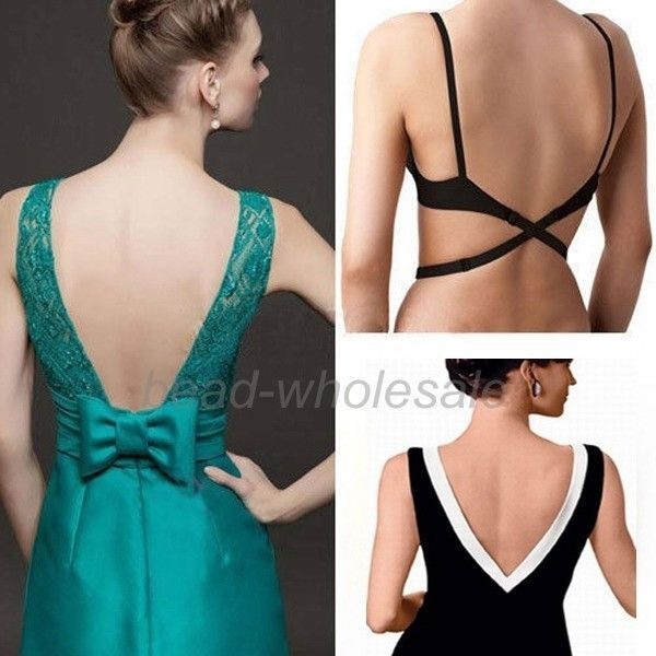 BLACK WHITE BEIGE WOMENS LOW BACK BRA STRAP EXTENDER BACKLESS TOP DRESS SINGLET #Unbranded #StraplessMultiwayBras