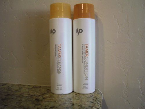 ISO Tamer Cleanse 10.1 oz. Shampoo + 10.1 oz. Conditioner (Combo Deal) by ISO. $22.50. Shampoo and Conditioner combo helps to revitalize and moisturize your hair. A complete system of hair care especially designed to help hair look and feel thicker and healthier. Tri-Active Technology helps restore hair to it's optimum condition.  Smoothing shampoo, formulated with ISO's patented ISOamine & guar gum ingredients, softens & clams frizzy, unruly & flyaway hair while gently cle...